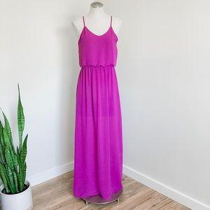 Lush fuchsia pink purple maxi dress Medium